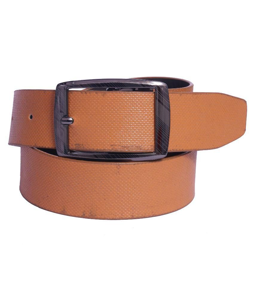 Coovs Tan Faux Leather Casual Belts