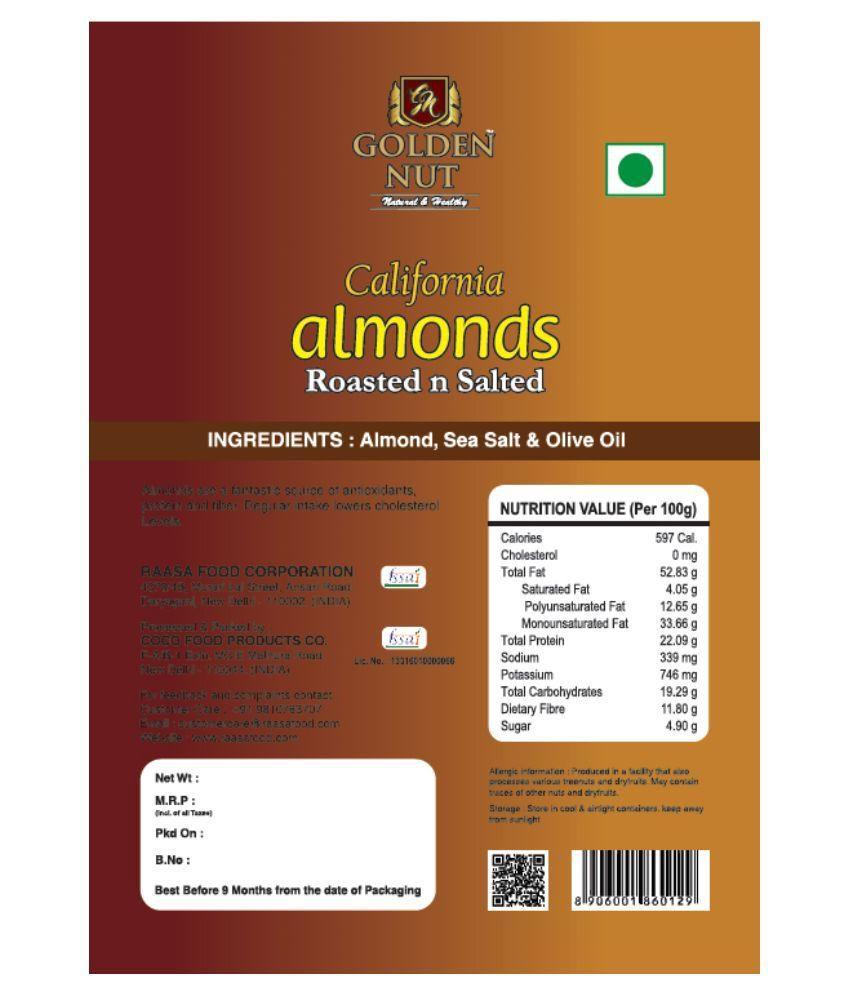 12556a01788 GOLDEN NUT Roasted Almond (Badam) Gift Box 200 gm