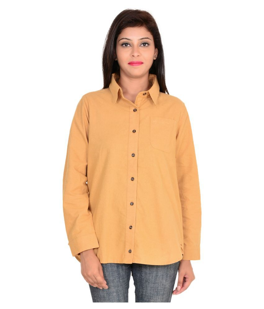 GOODWILL Yellow Cotton Shirt