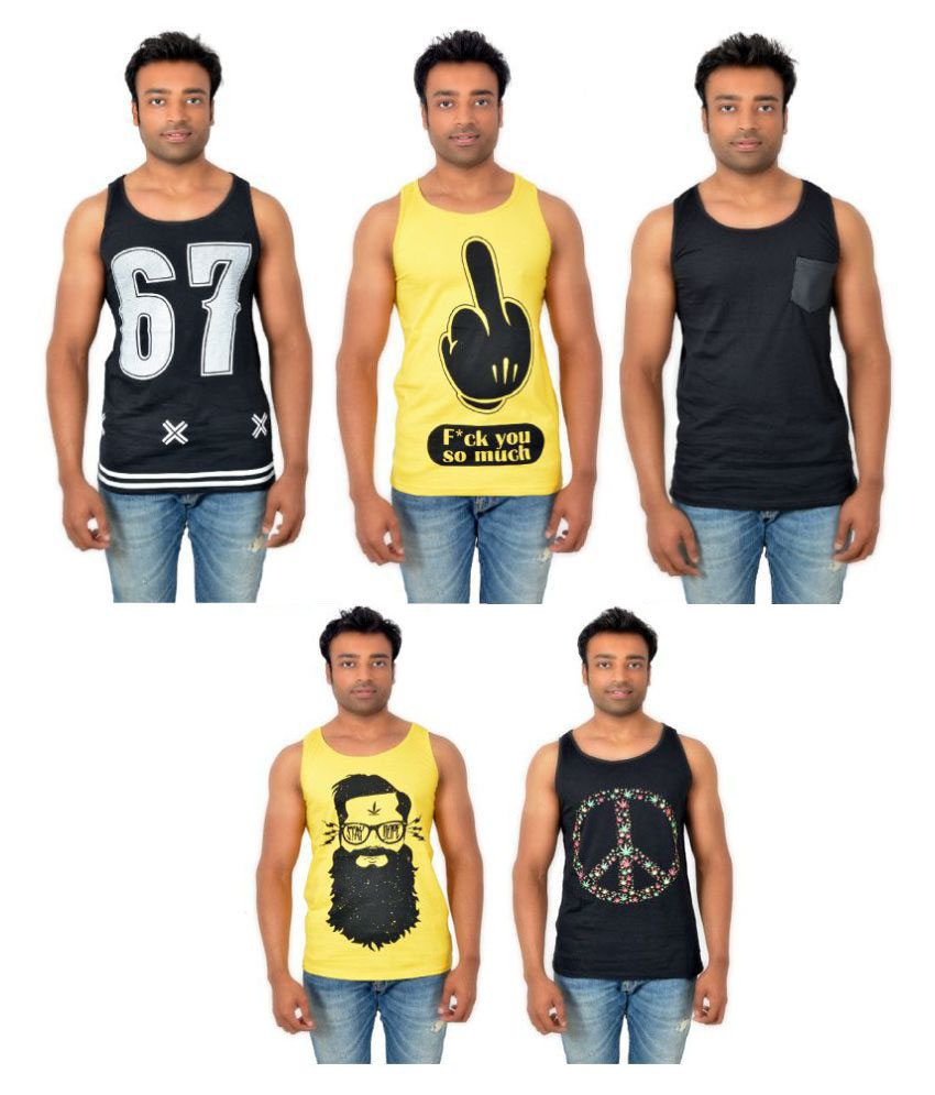 Hipsters Fashion Multi Round T-Shirt Pack of 5