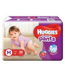 Huggies Medium Wonder Pants Diapers - 38 Piece (7 To 12 Kg)