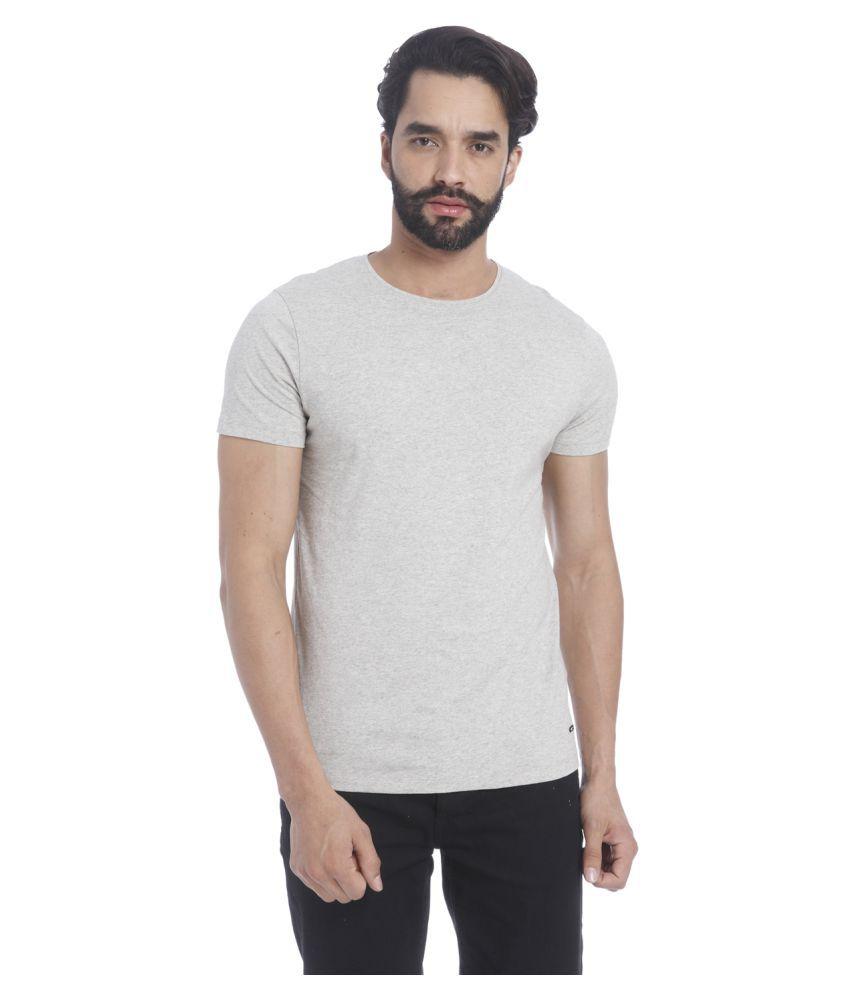 Jack & Jones Grey Round T-Shirt
