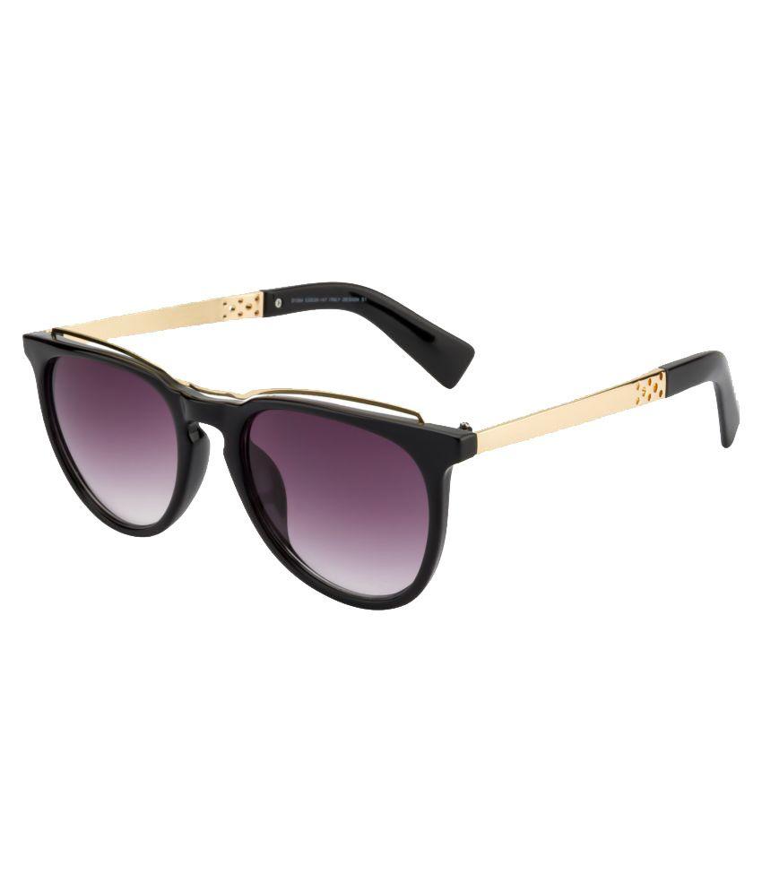 O Positive Purple Oval Sunglasses ( S5530C1-BLK )