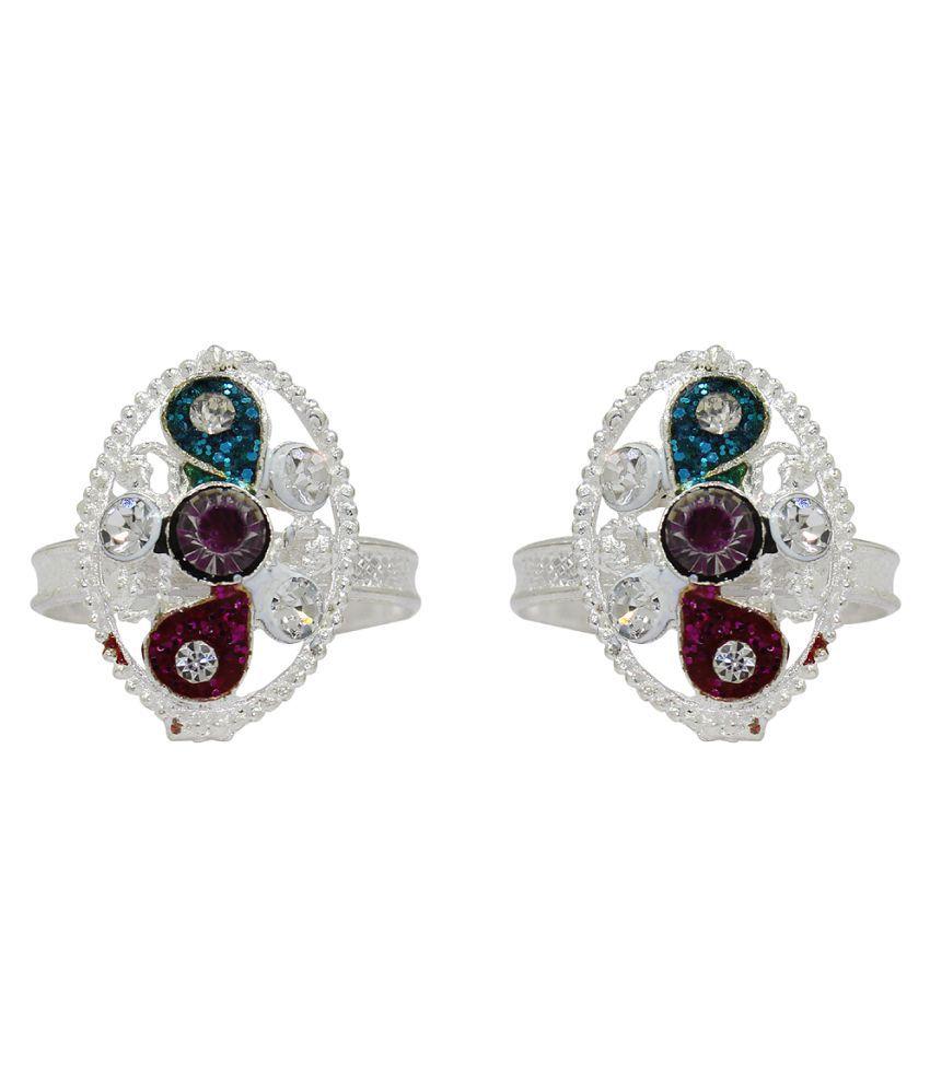 Raj Silver Toe Ring - Set of 2