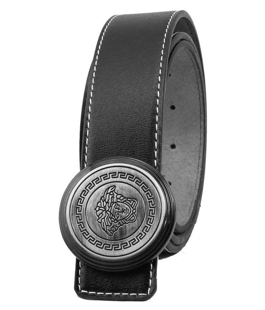 Ambaliya Fashion Black Leather Casual Belts