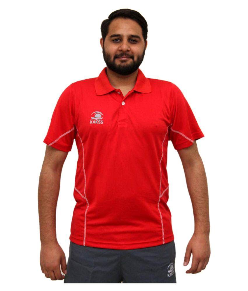 Kakss Red Collar T shirt