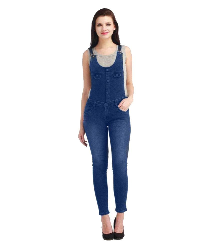 Western World Fashion Denim Jeans Dungarees - Blue