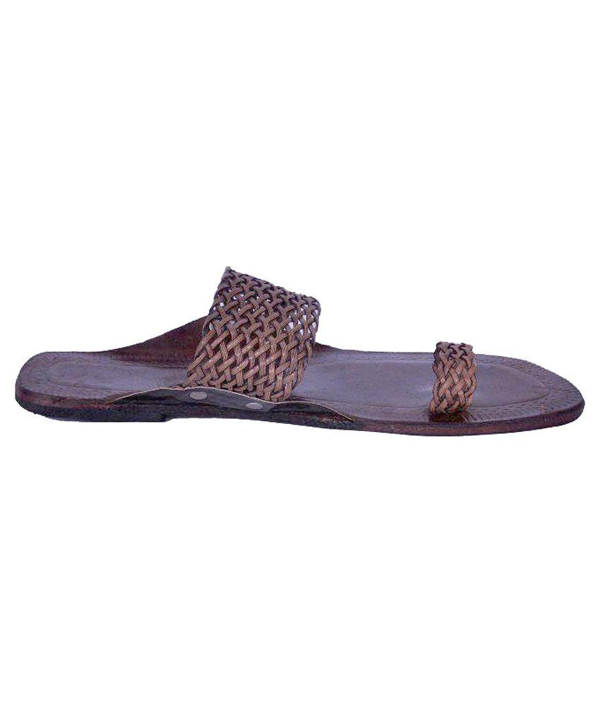 Kolhapuri Chapal Brown Flat Ethnic Footwear