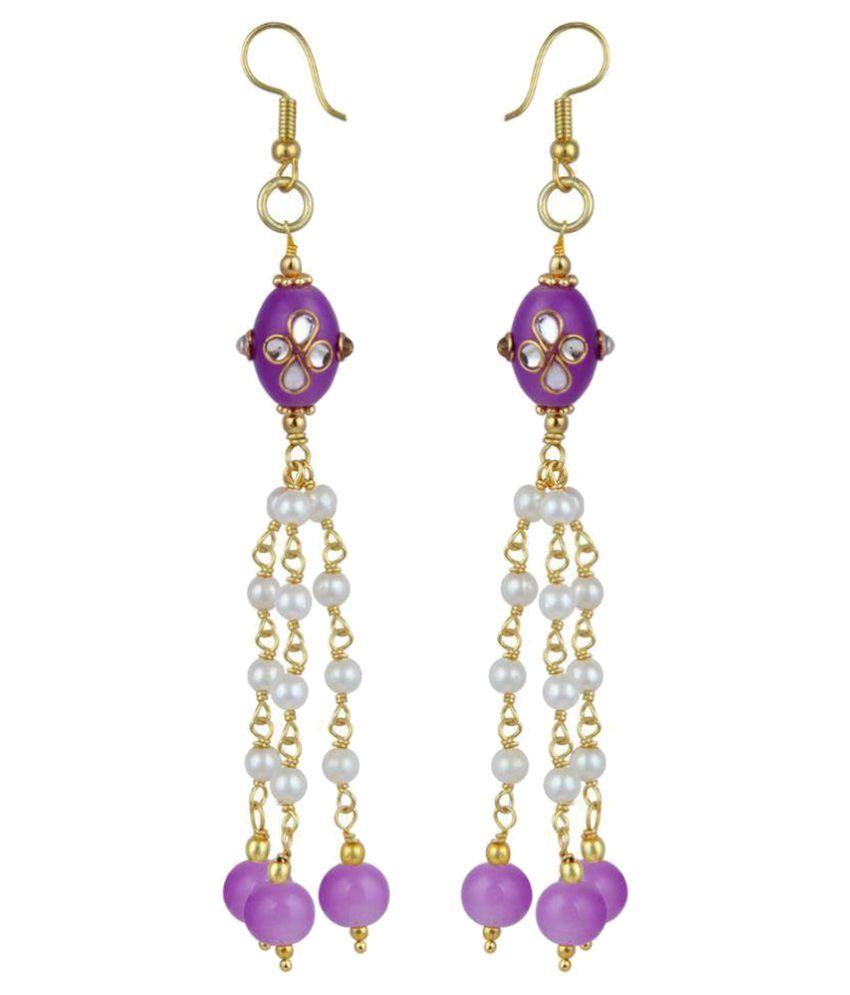 Pearlz Ocean Multicolor Hanging Earrings