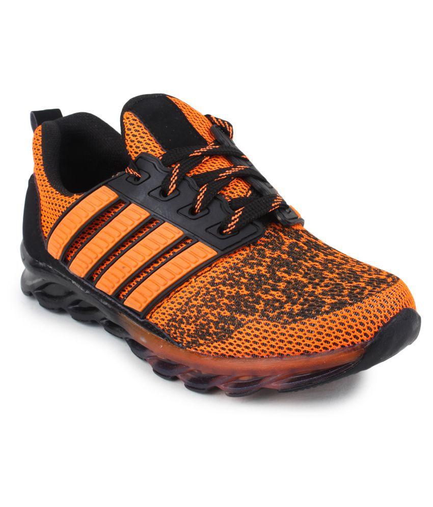 Do Bhai Orange Running Shoes