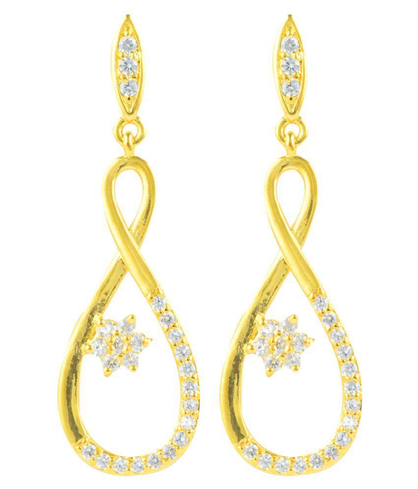 Glitters Online Golden Hanging Earrings