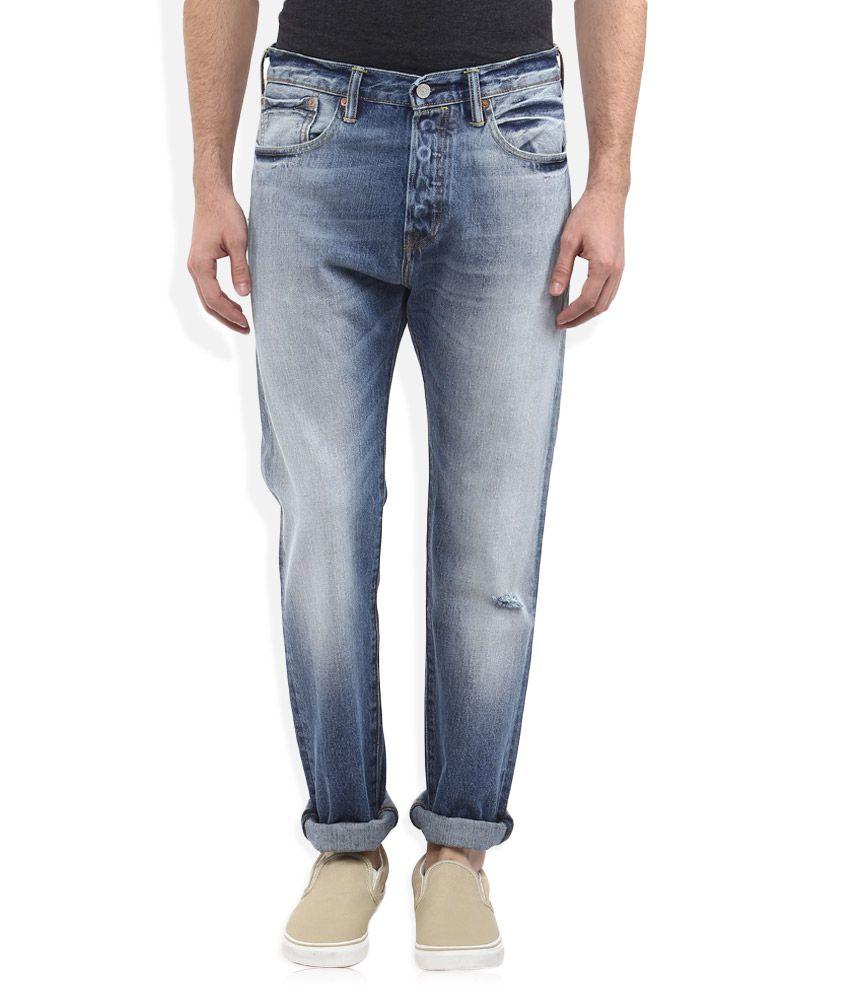 levis blue 501 ct skinny fit jeans buy levis blue 501 ct skinny fit jeans online at best. Black Bedroom Furniture Sets. Home Design Ideas