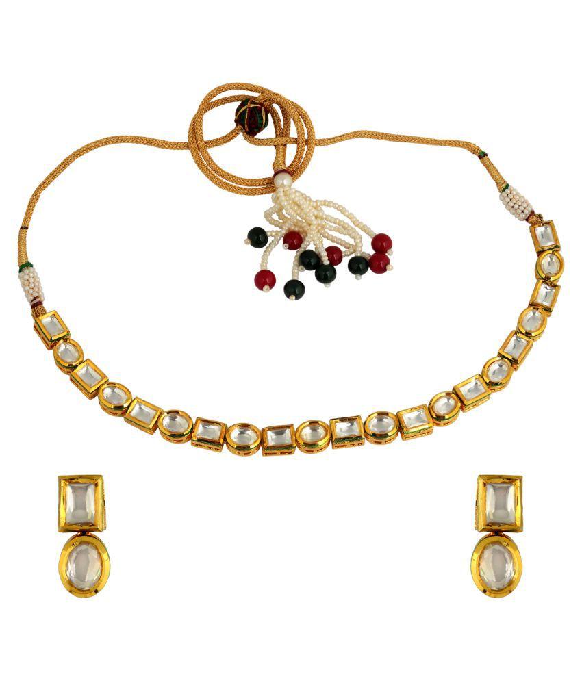 KRS Jewels Golden Necklaces Set