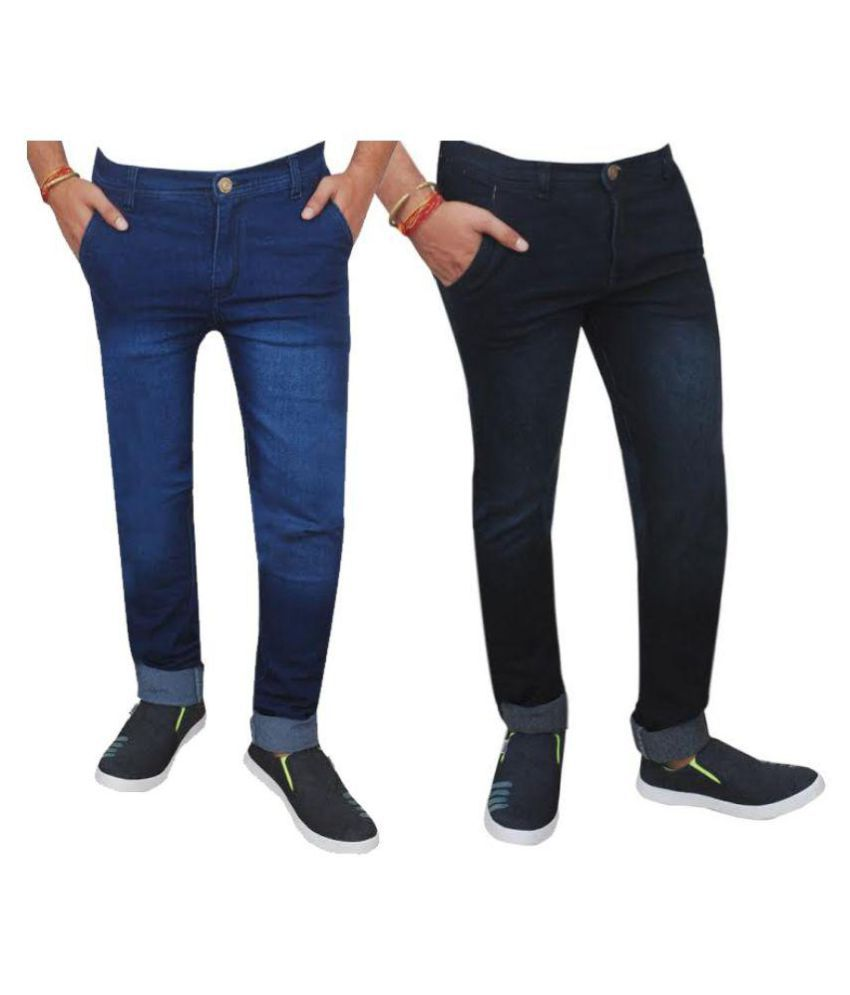 Inspire Next Multi Regular Fit Solid Jeans - Pack of 2