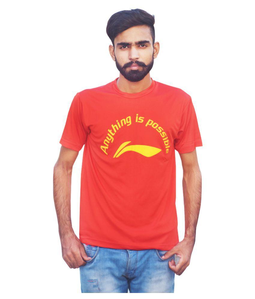 Li-Ning Red Polyester T-Shirt Single Pack