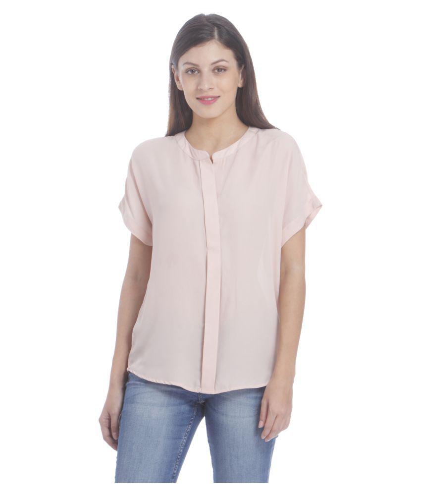Beförderung mehr Fotos anerkannte Marken Only Peach Polyester Regular Tops