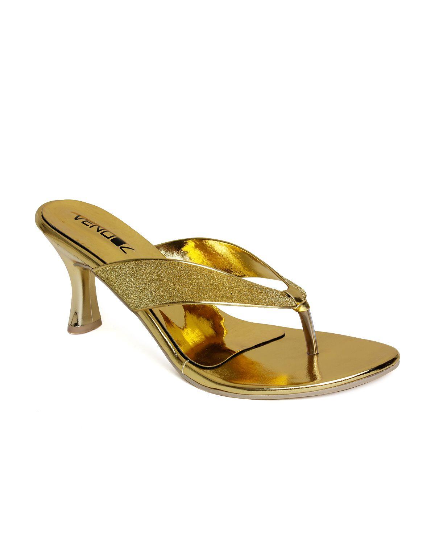 Vendoz Gold Stiletto Heels