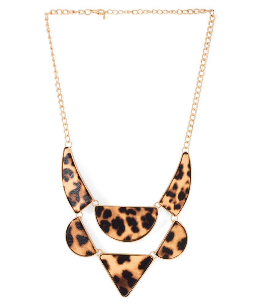 Voylla Crystal Multicolour Necklace