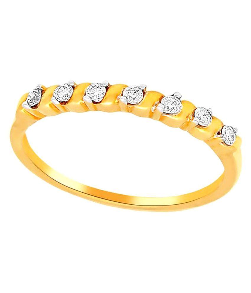 Asmi 18k Yellow Gold Diamond Ring