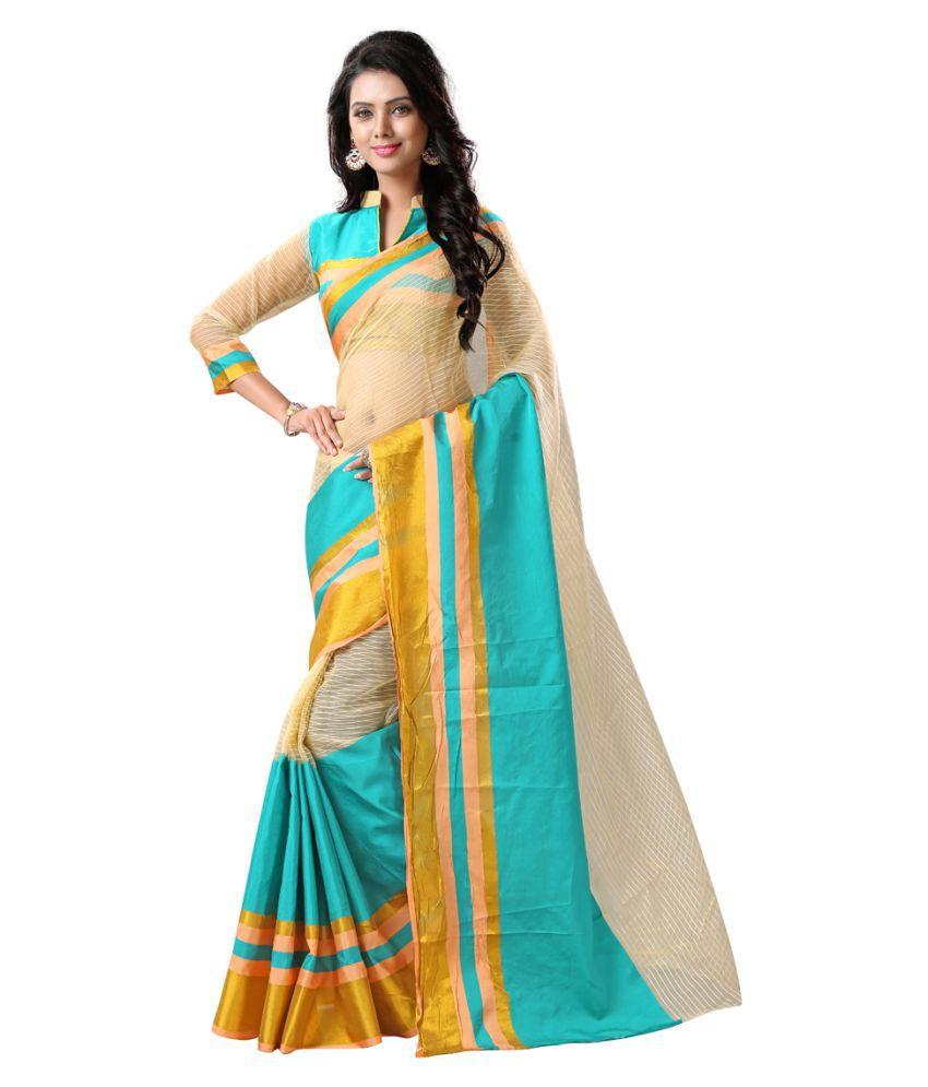 Fashion World Multicoloured Tussar Silk Saree