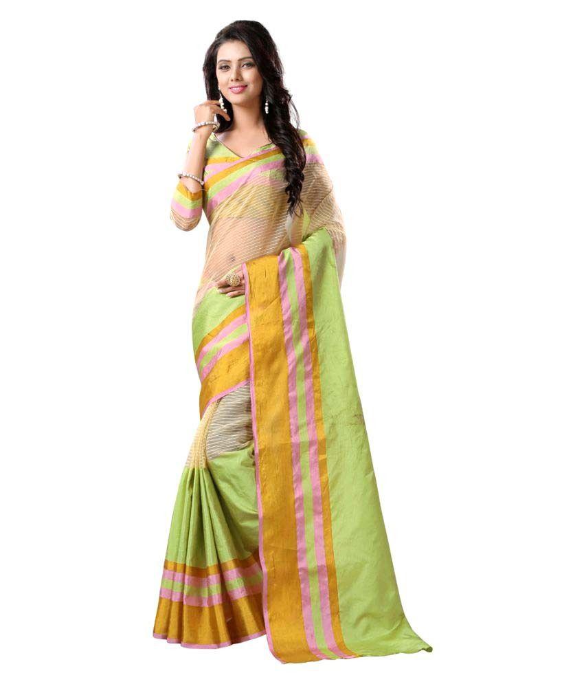 Uttam Vastra Multicoloured Tussar Silk Saree