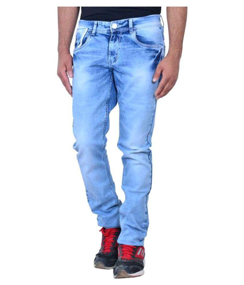 Zeba Corp Blue Regular Fit Basic