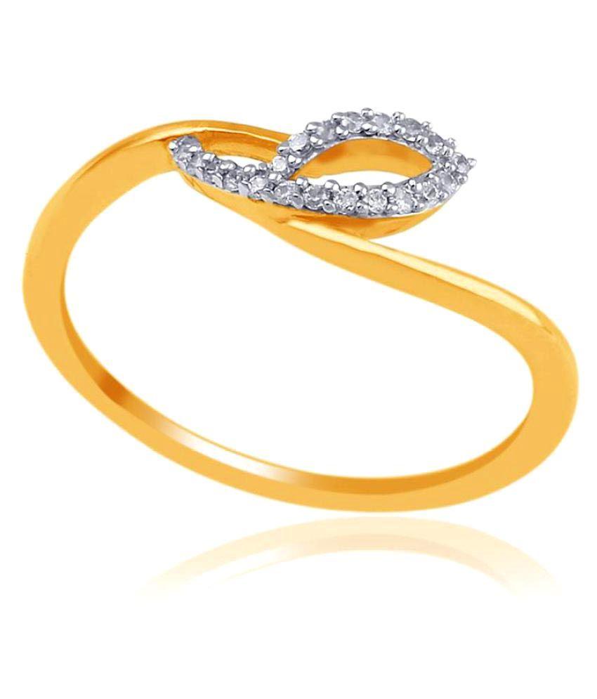 Nakshatra 18k Yellow Gold Diamond Ring