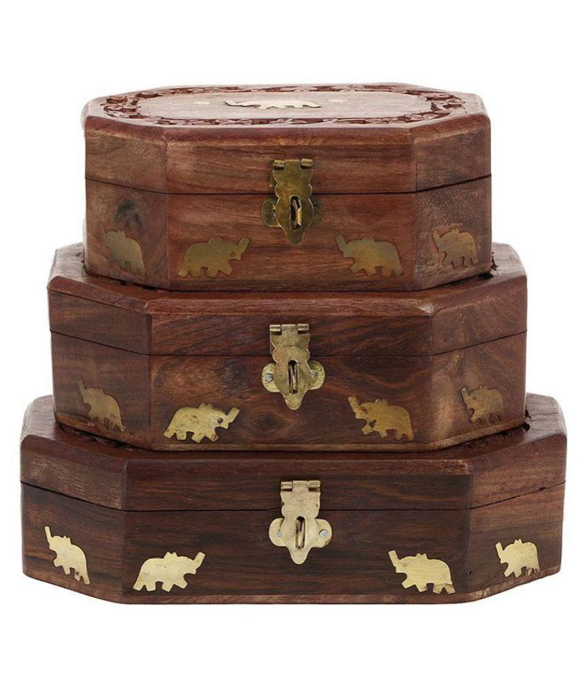 Derien Brown Jewellery Box - Set of 3