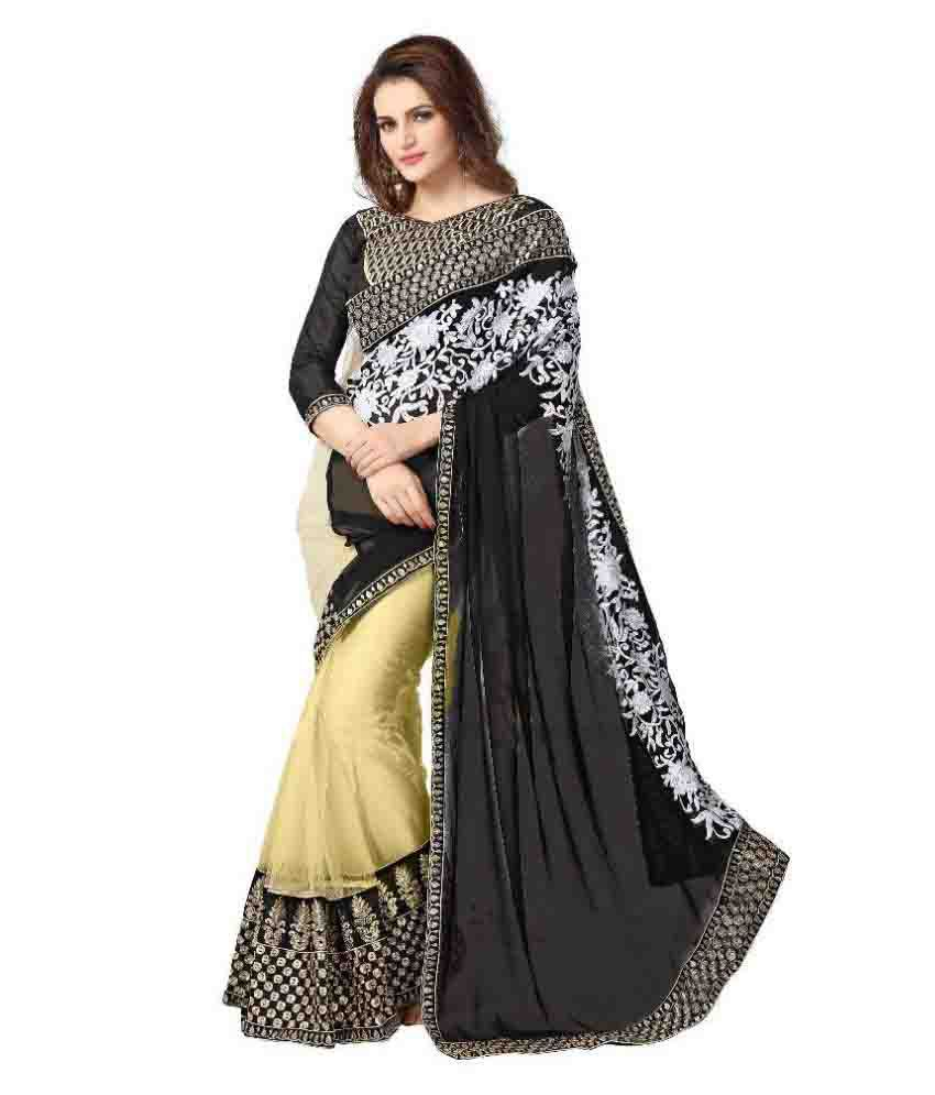 Onlinefayda Multicoloured Georgette Saree