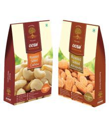 OOSH OOSH Roasted Salted Almond & Cashew Salted Almond (Badam) Roasted Salted 500 Gm Pack Of 2