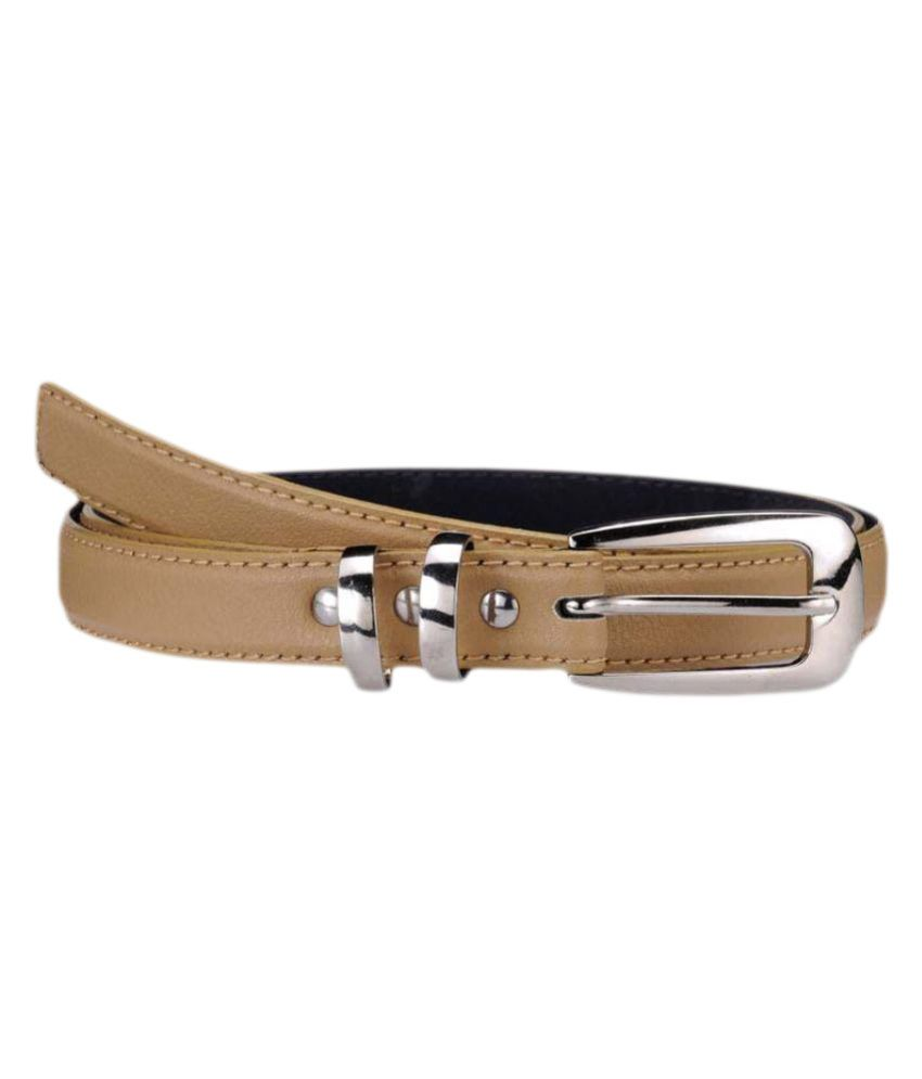 Allura Beige Faux Leather Formal Belts