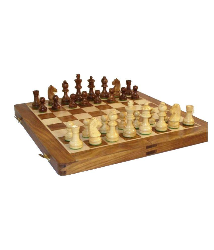 Desi Karigar Multicolour Wooden Chess Board