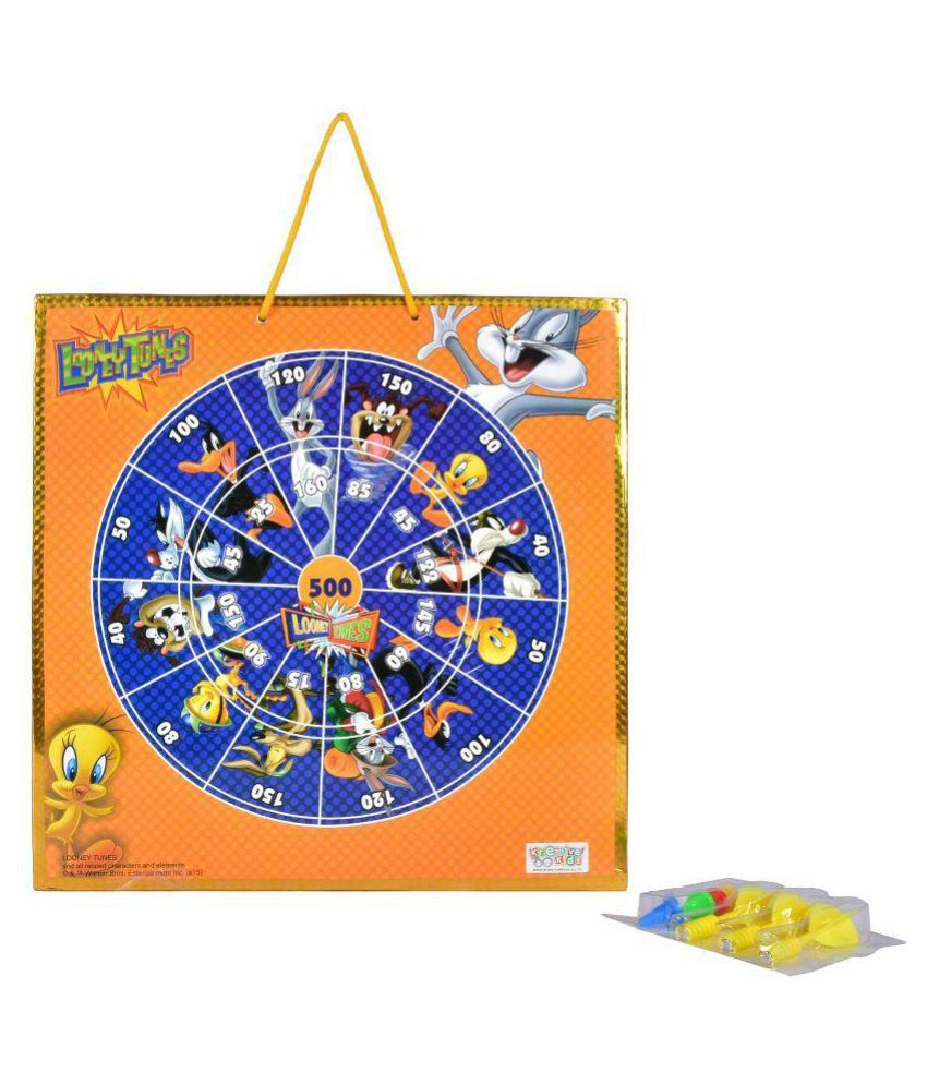 Looney Tunes Multicolour 2 in 1 Magnetic Dart Board and Game