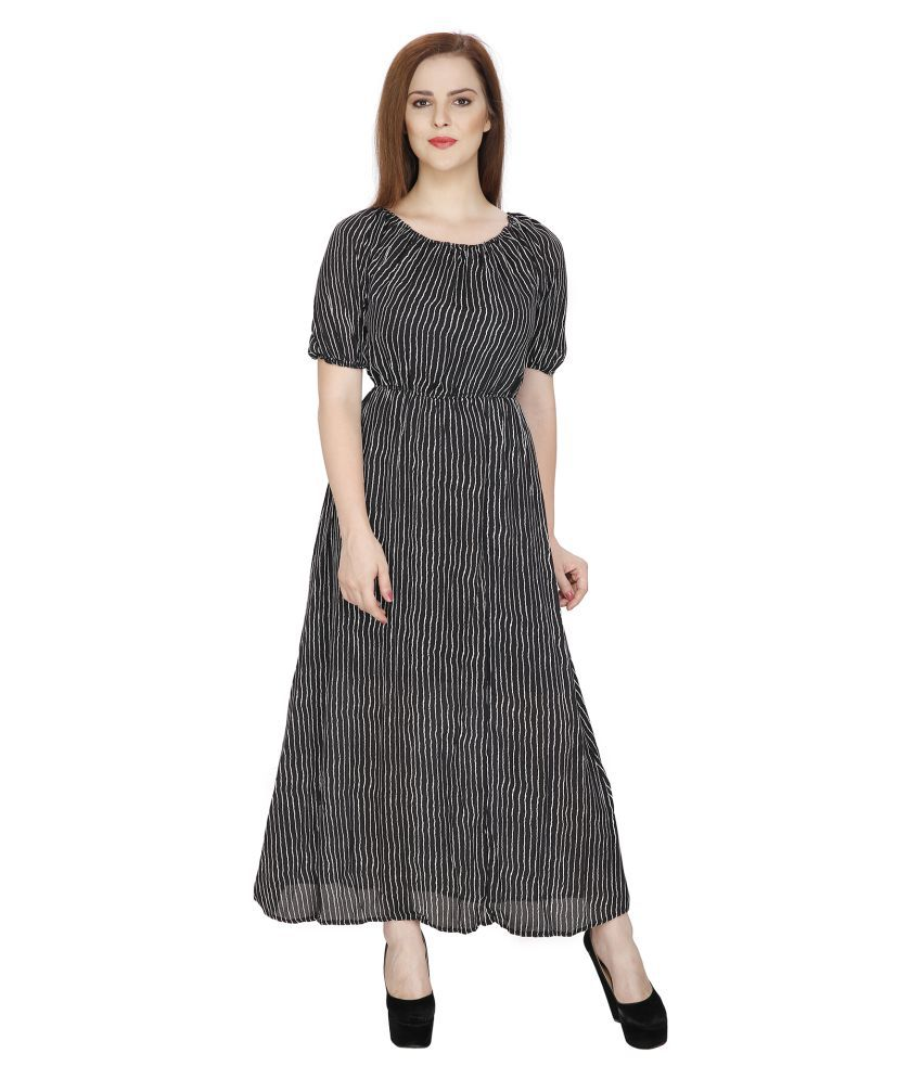 SVT ADA Collections Black Georgette Dresses