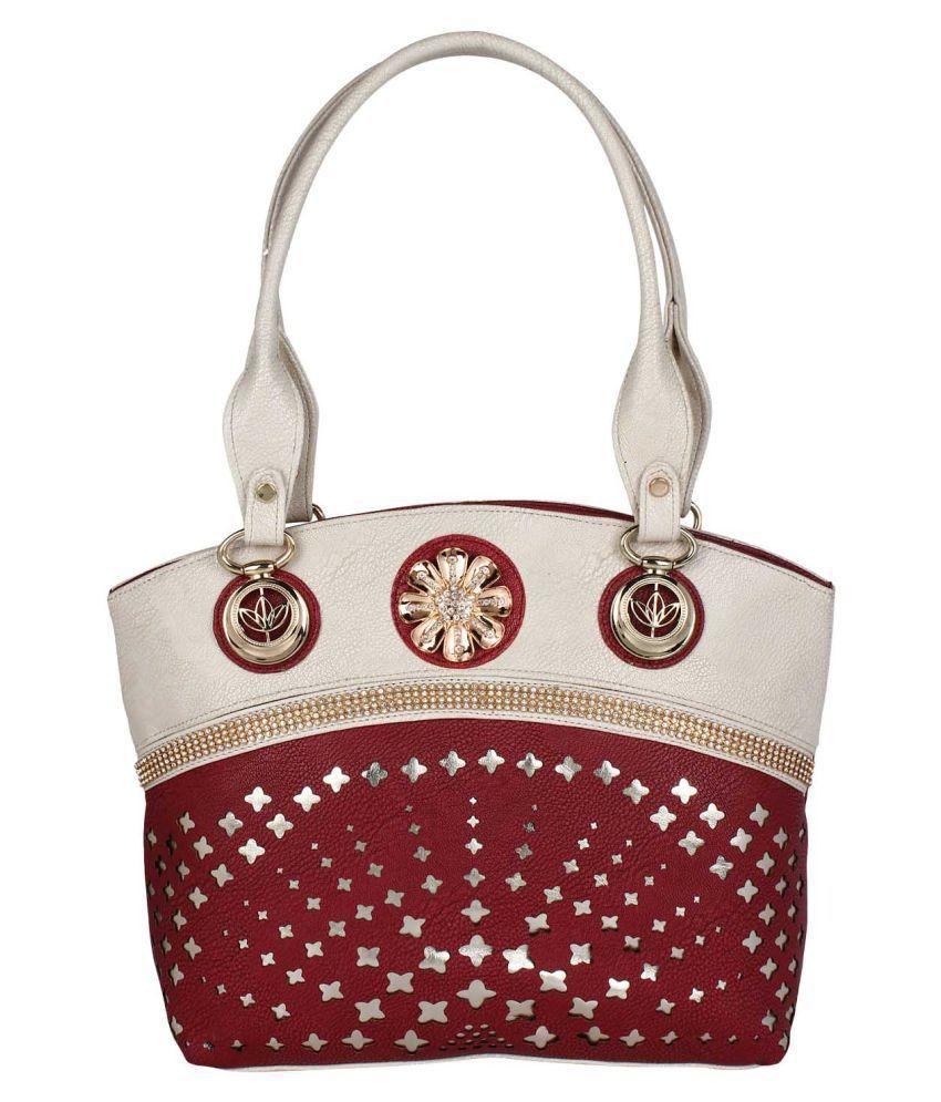 Supreme Culture Brown P.U. Satchel Bag