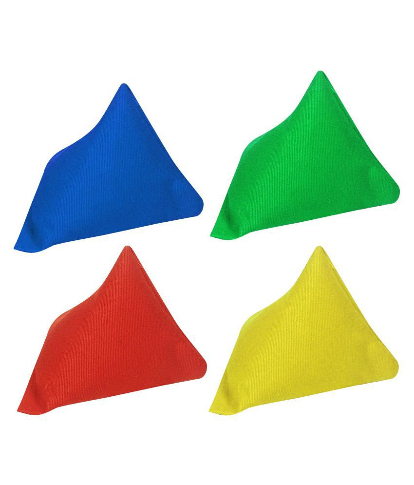 GSI Multicolour Pyramid Toss Bean Bags   Pack of 4 available at SnapDeal for Rs.235