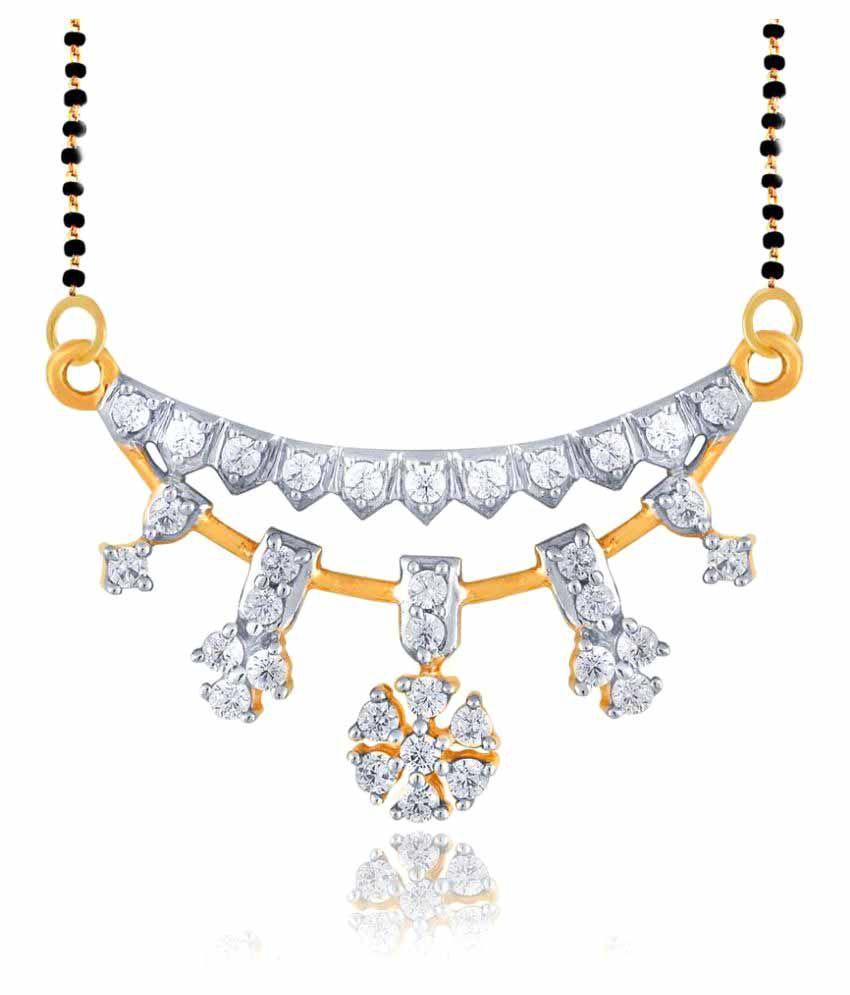 Nakshatra 18k Yellow Gold Diamond Mangalsutra