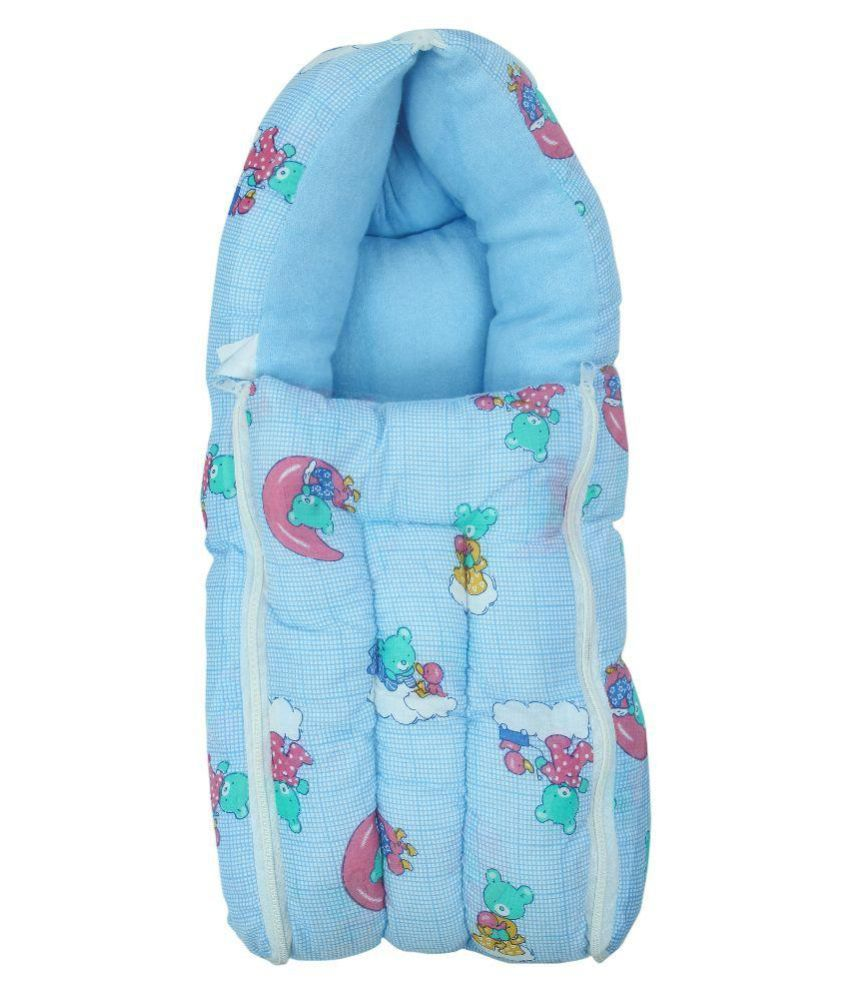 FabSeasons Blue Baby Bed Carrier and Sleeping Bag