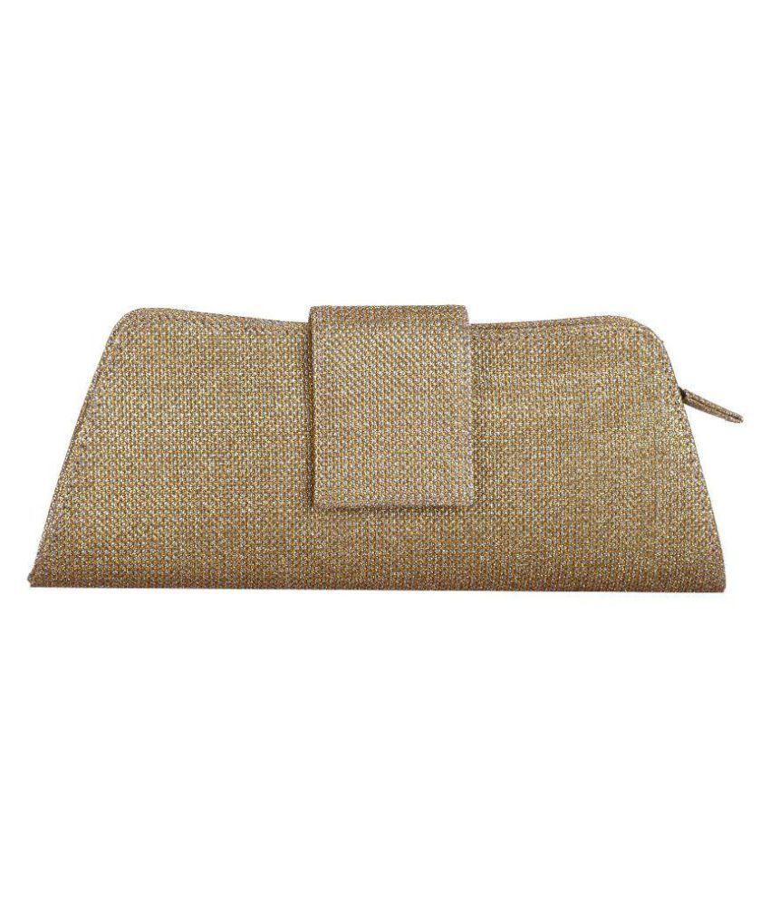 Prodigy Golden Fabric Box Clutch