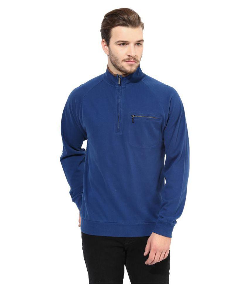 Grain Blue High Neck T-Shirt