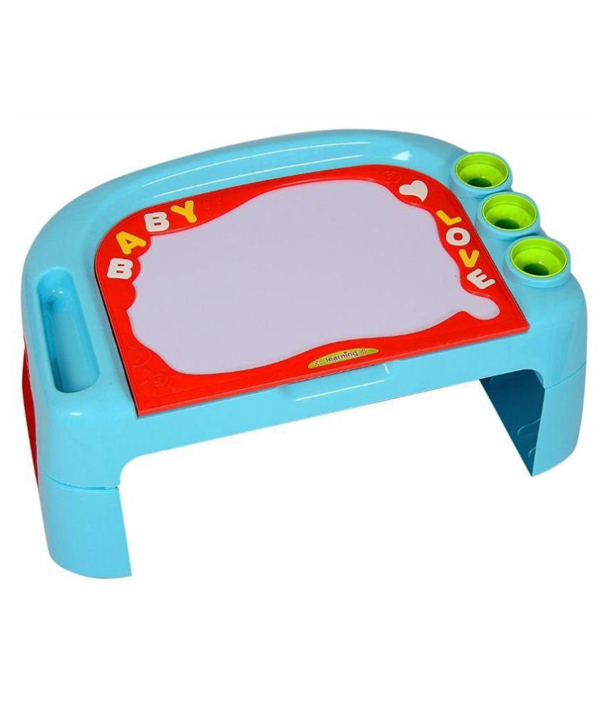 MK Enterprises Multicolour Plastic Learning Desk