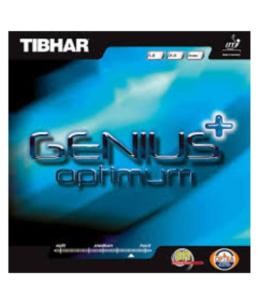 Tibhar Genius With 23 Optimum Black Table Tennis Rubber