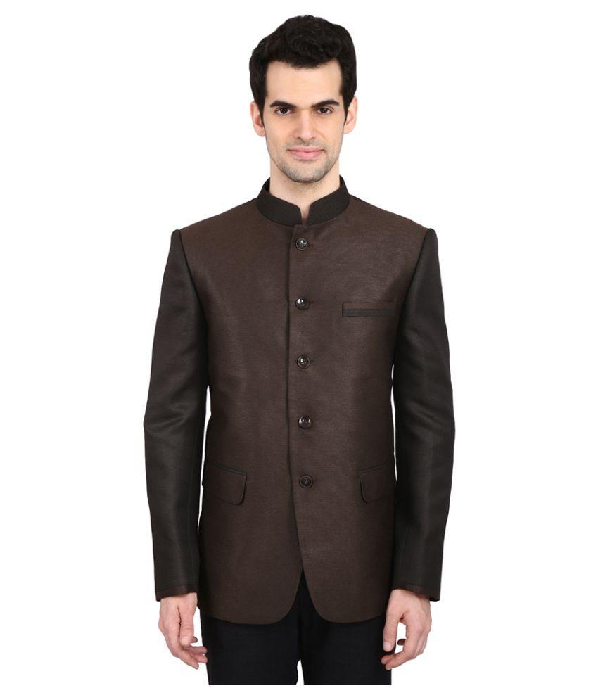Indian Attire Brown Solid festive Tuxedo
