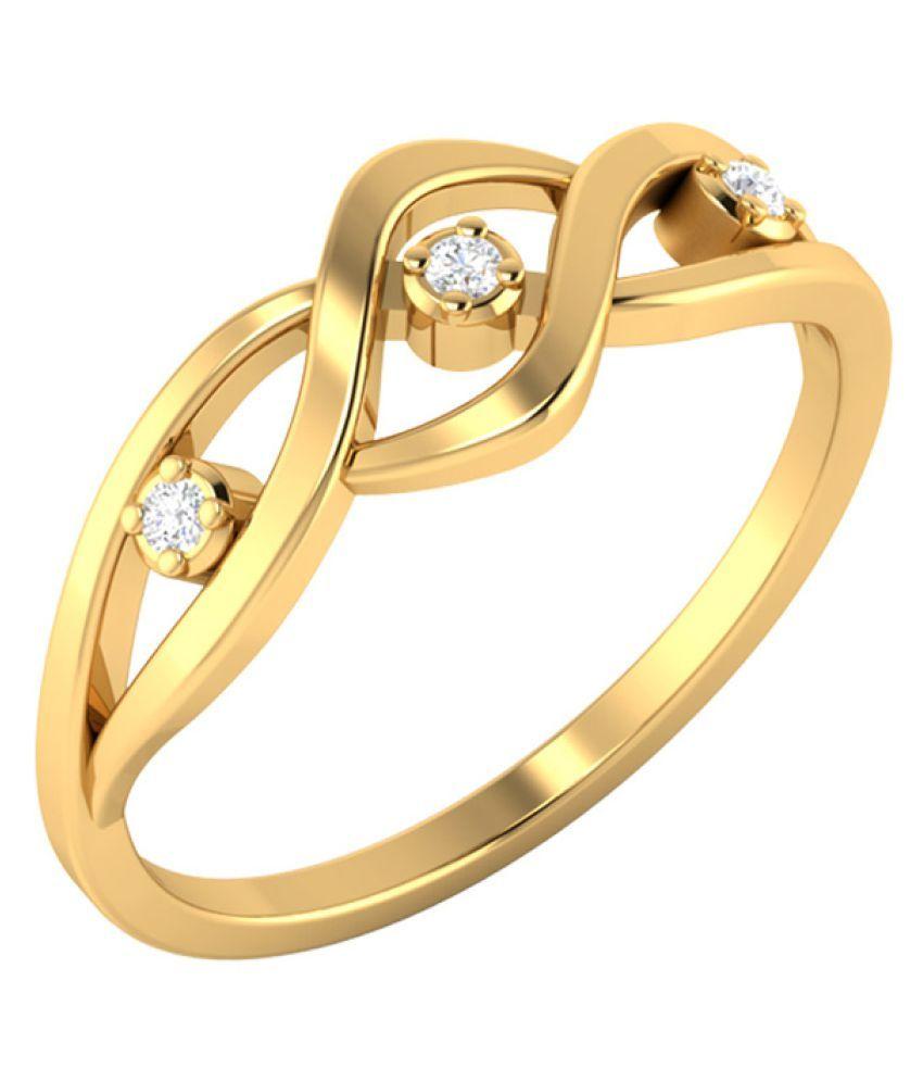 Voylla 14k Gold Diamond Ring