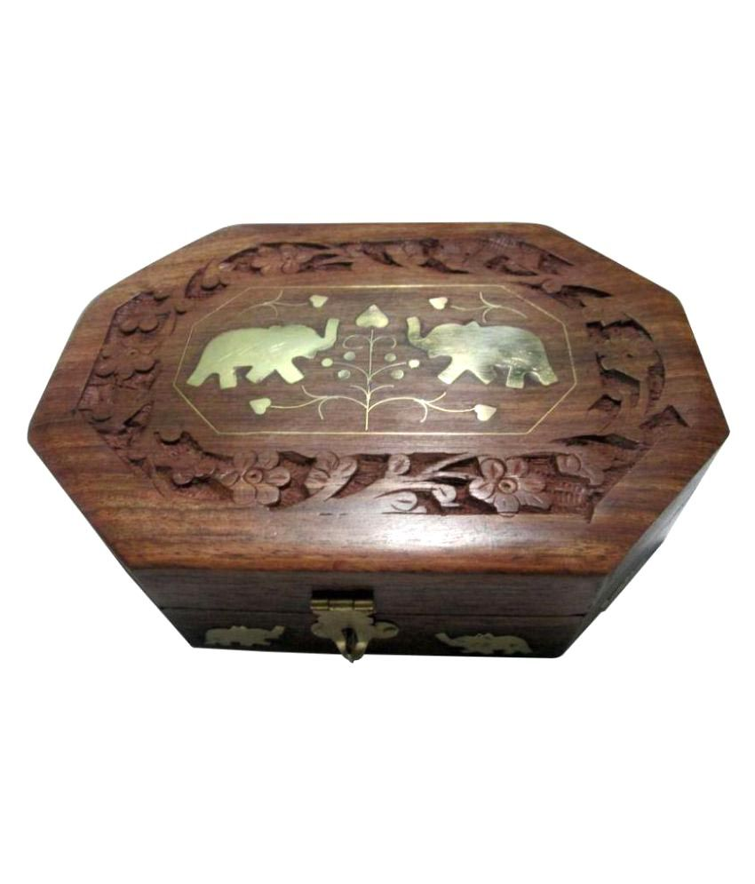 Preshi Brown Wooden Jewellery Box