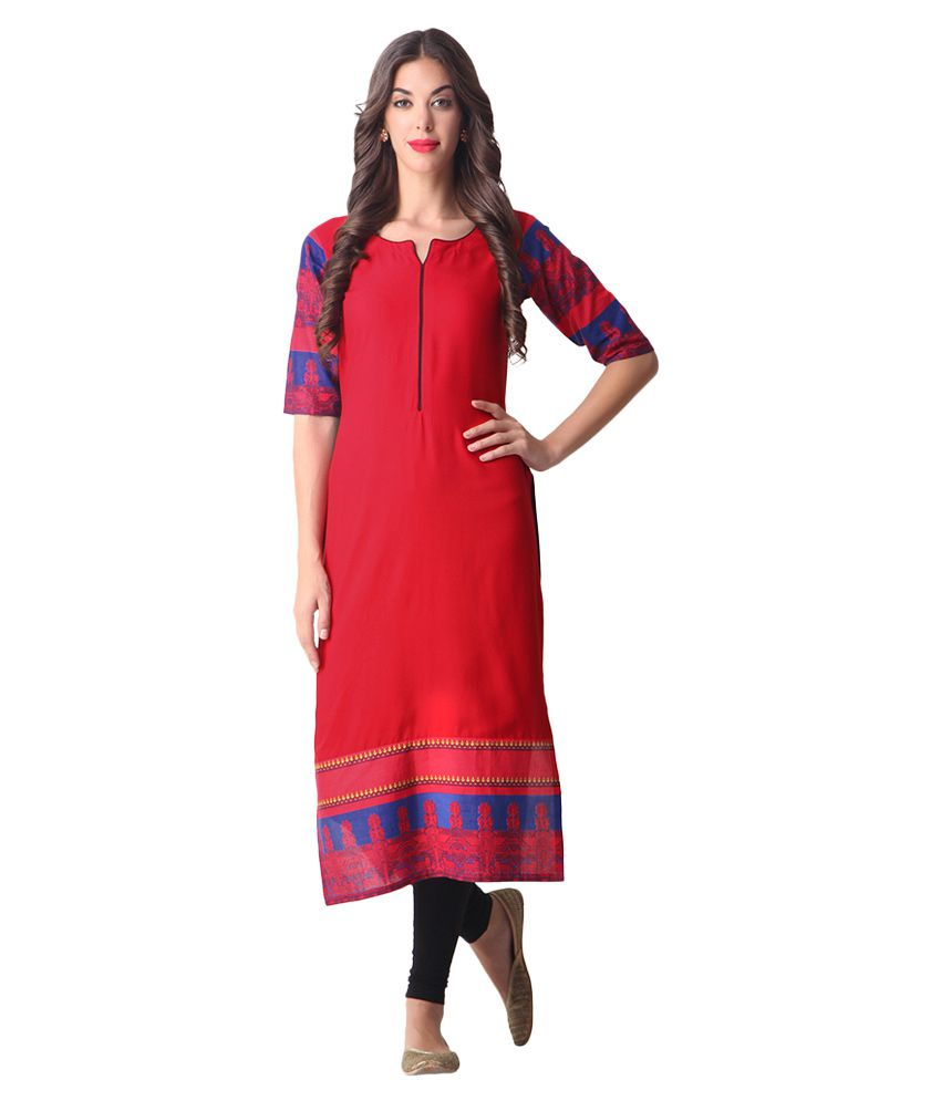 de29e26c8 Libas Red Printed Kurta - Buy Libas Red Printed Kurta Online at Best Prices  in India on Snapdeal
