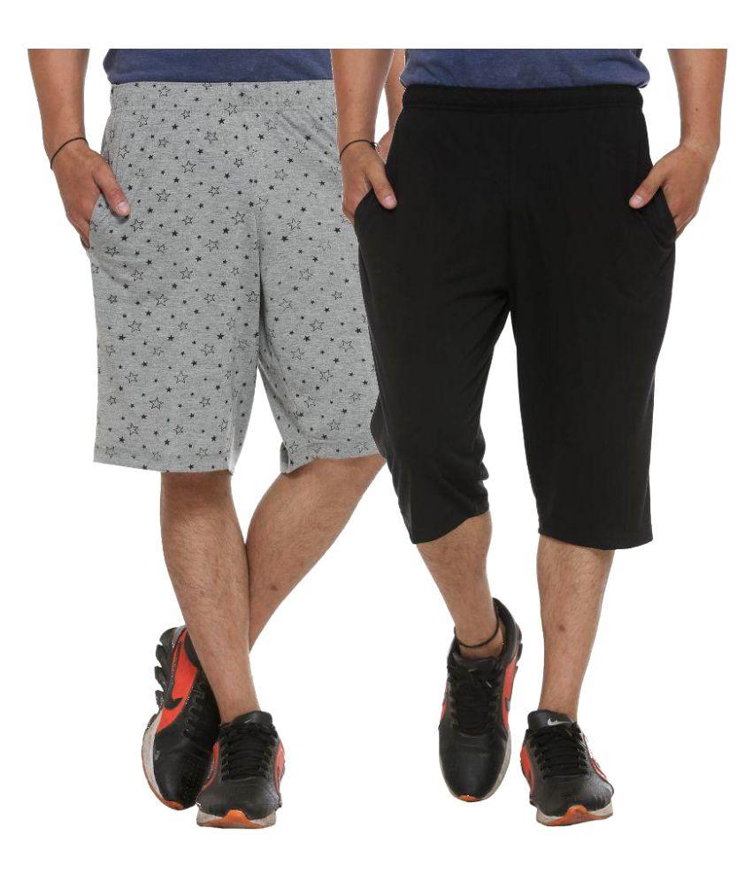 Vimal Jonney Multi Shorts with Three Fourths