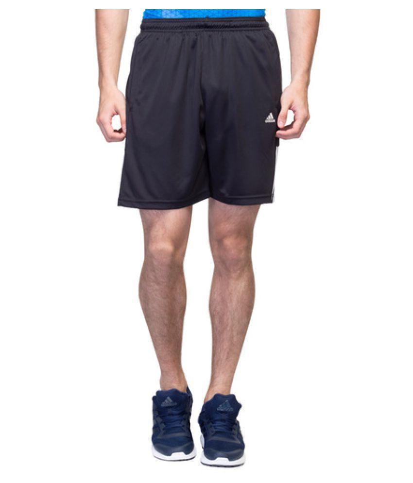 Adidas Black Polyster Shorts