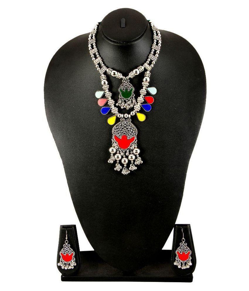 Adoreva Multicolor Necklace Set