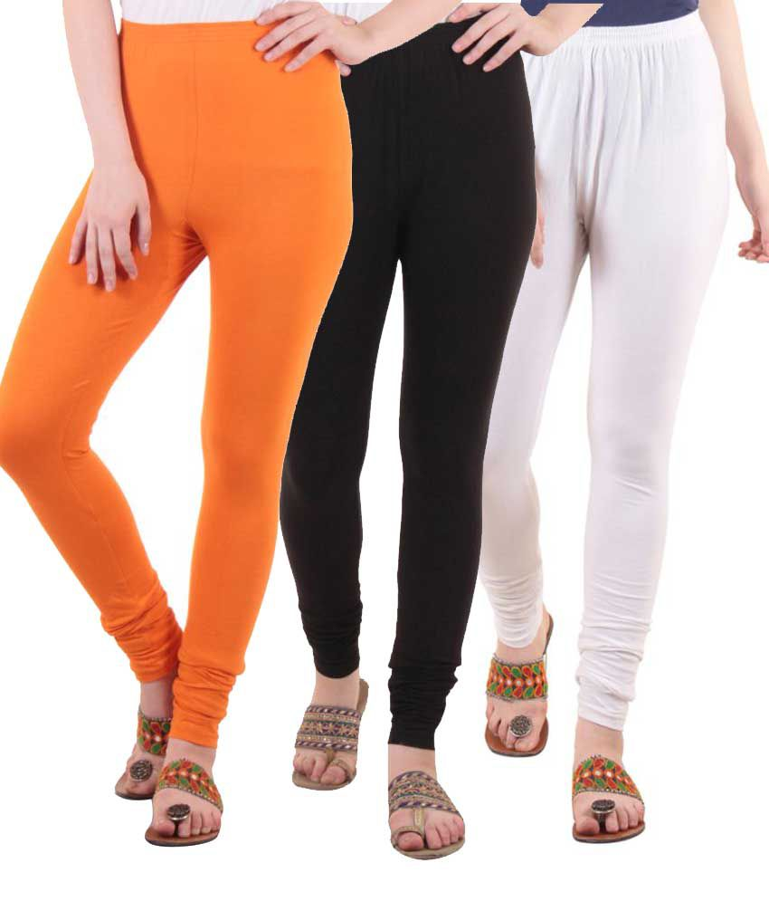 Diaz Cotton Lycra Pack of 3 Leggings